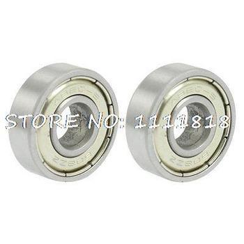 2x 608ZZ Dual Metal Shields Deep Groove Ball Bearing 8 X 22 X 7mm