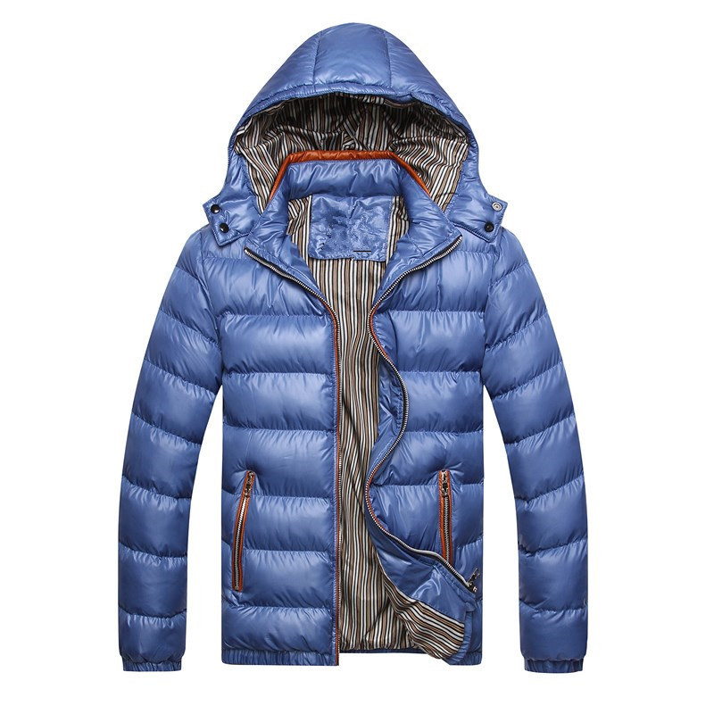 Mens High-end Cotton Jacket Hat Large Coat Winter Jackets and Coats Down Suit Parkas