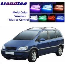 LiandLee luz ambiental de ritmo musical para Interior de coche, para Opel Zafira A 1999 ~ 2005
