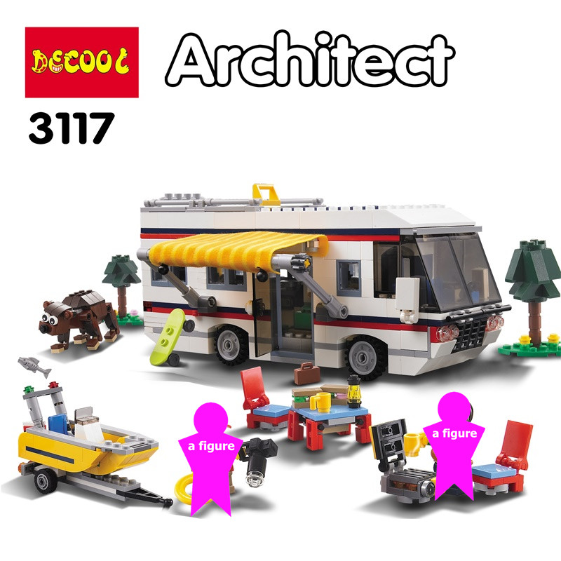 Creator 3 in 1 Vacation Getaways Building Blocks Kit Bricks City Classic Model Kids Toys For