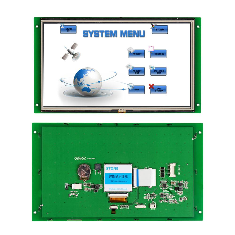Embedded 10.1 Inch HMI Touch Screen With RS232/RS485/TTL +Controller Board For Equipment Use