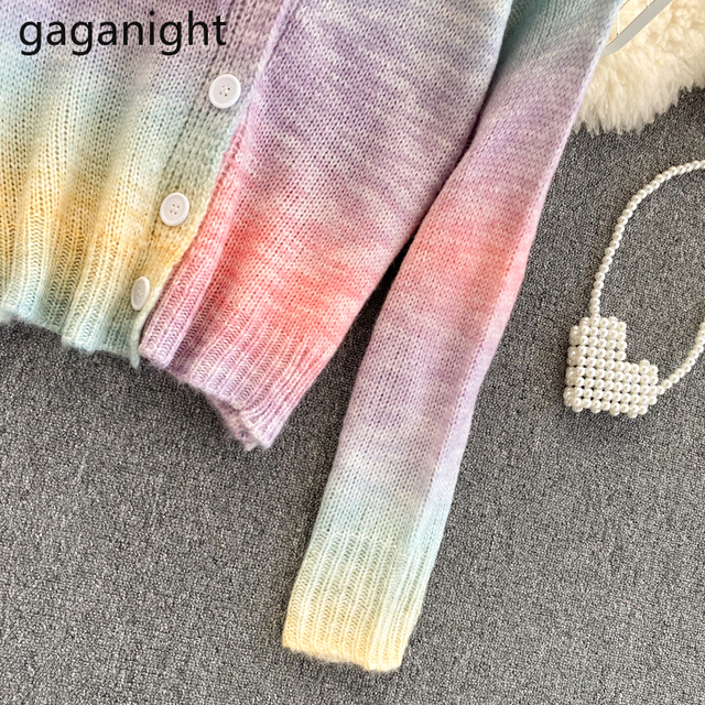 Soft Rainbow Knitted Cardigan 5