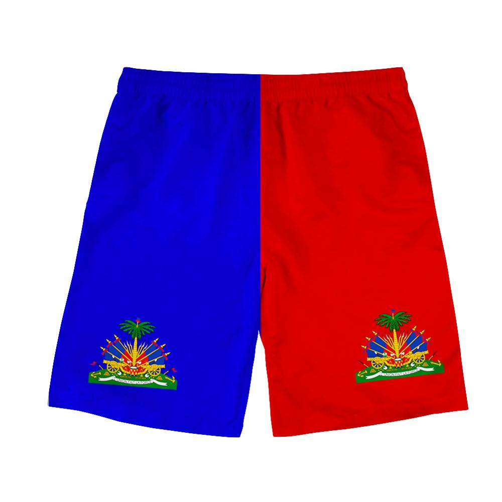 HAITI Shorts Diy Free Custom Name Number Hti Beach Shorts Nation Flag Country Ht French Haitian College Print Photo Clothes