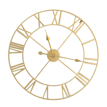 Żelaza cichy ścienny zegar prosty na ścianę zegar ozdobny domu dekoracyjne zegar ścienny Living Room zegar ścienny (złoty zarodek złoty szwów) tanie i dobre opinie CN (pochodzenie) fashion wall clock hanging clock wall hanging clock retro wall clock chic wall clock