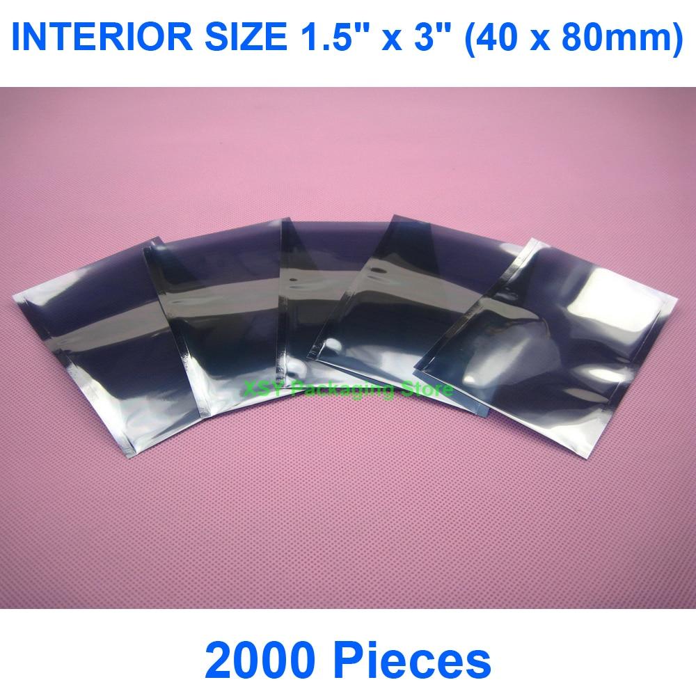2000 Pieces ESD Bags INTERIOR SIZE 1.5
