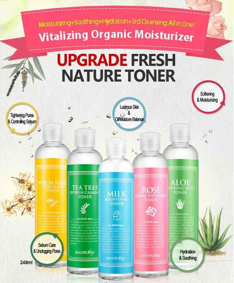 SECRET KEY Fresh Toner 248ml Moisturizing Serum Whitening Essence Facial skin Care เครื่องสำอางเกาหลี