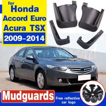 цена на Mudflap for Honda Accord Euro Acura TSX 2009~2014 Fender Mud Guard Flap Splash Flaps Mudguard Accessories 2010 2011 2012 2013