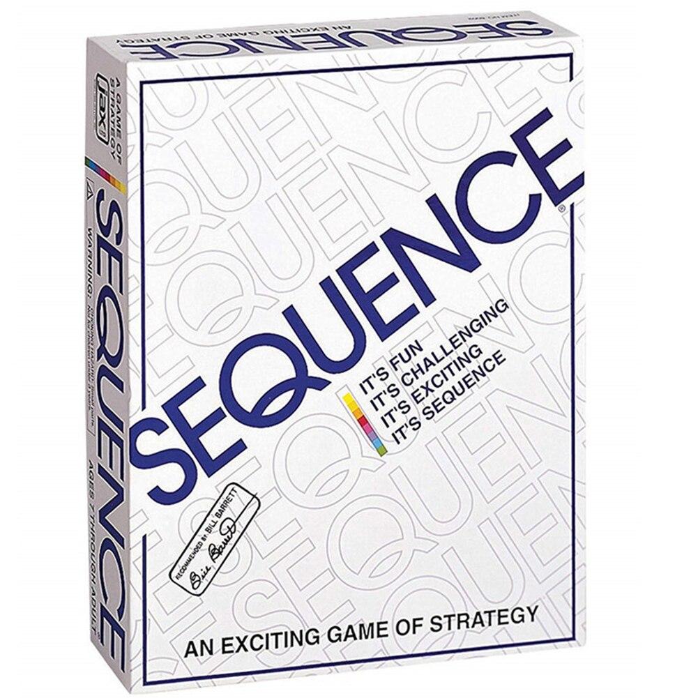 Последовательная игра подходит для семейных игр 2-12 игроков, настольная игра
