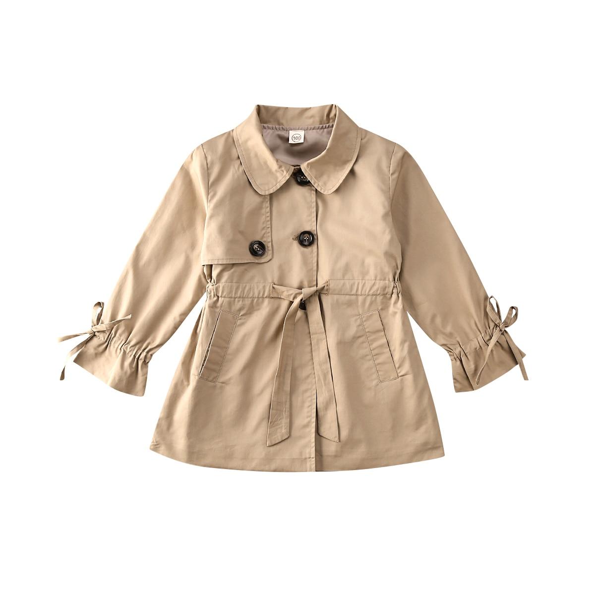 Kid Baby Girl Clothes Coat Jacket Solid Windbreaker Outwear Overcoat Snowsuit Warm Winter Button Sweet Princess Clothing