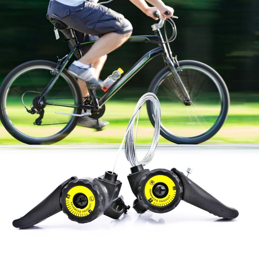 1Pair 3x5//6//7 Speed MTB Bike Thumb Gear Shifter Top Mount Shift Brake