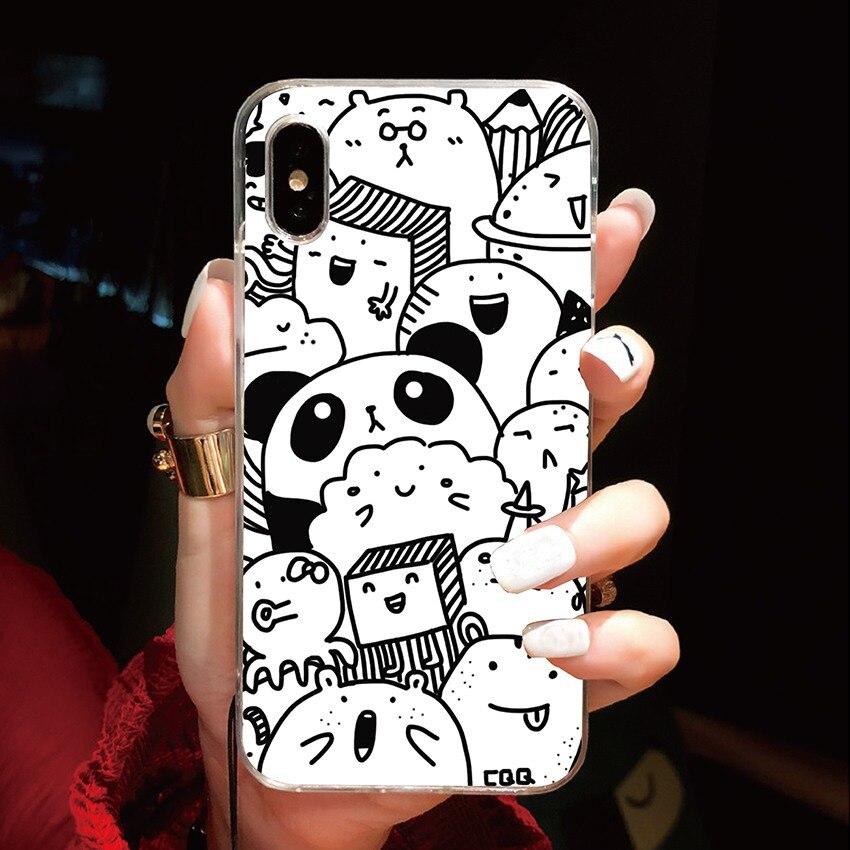 Cases For LG Stylo 4 5 G7 G8 G8s Thinq V50 K40 S K50 S K30 K20 2019 Q60 K11 W10 W30 Soft TPU Cute Pandas Phone Cover