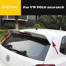 цена на Car Styling Universal ABS Plastic Rear Spoiler Wing Tail Trunk Lid Cover Trim For Volkswagen VW POLO Sedan 2010-2018 Accessories