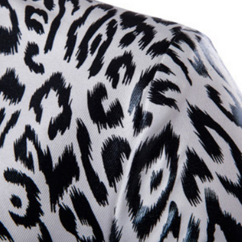 Black White Leopard Jacket for Men Fashion Europe Style Suit Jacket One Buckle Men Suit Jacket Slim Fit Male Blazer Formal Man in Blazers from Men 39 s Clothing