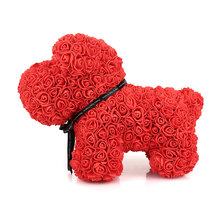 40cm PE Dog Dolls Rose Bear Girlfriend Birthday ValentineS Day Artificial Christmas Romantic Decorations Wedding