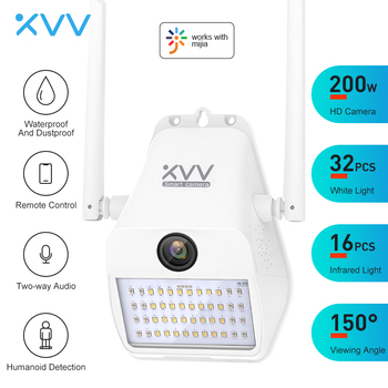 Xiaovv D7 1080P IP Camera 150° Wide Angle Smart WiFi Outdoor Webcam With 16 Infrared Light Wall Yard Lamp Cameras For Mi Home