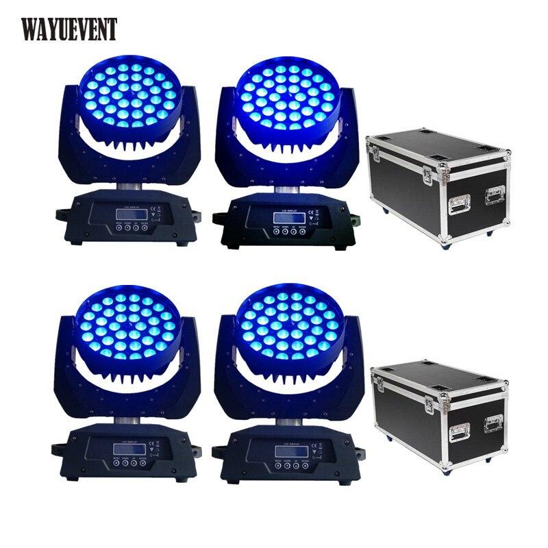 Hohe qualität bühne licht led zoom waschen 36x12w rgbw 4in1 waschen zoom moving head licht flug fall-in Bühnen-Lichteffekt aus Licht & Beleuchtung bei