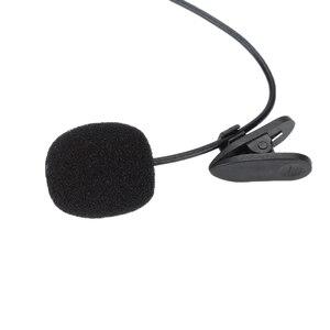 Mini micrófono de 3,5mm con Clip en la solapa Lavalier Stereo Audio calidad portátil 1,5 m con cable Micro para iPhone Smartphone grabación PC