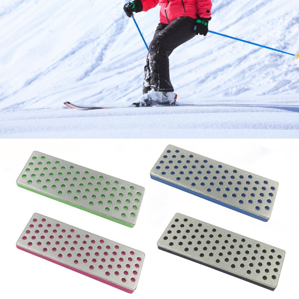 240 360 500 1000 Grit Sharpening Stones 4 Pcs Set Diamond Sharpening Stones For Skiing Ice Snowboard Ski Edges Skiing Sharpeners