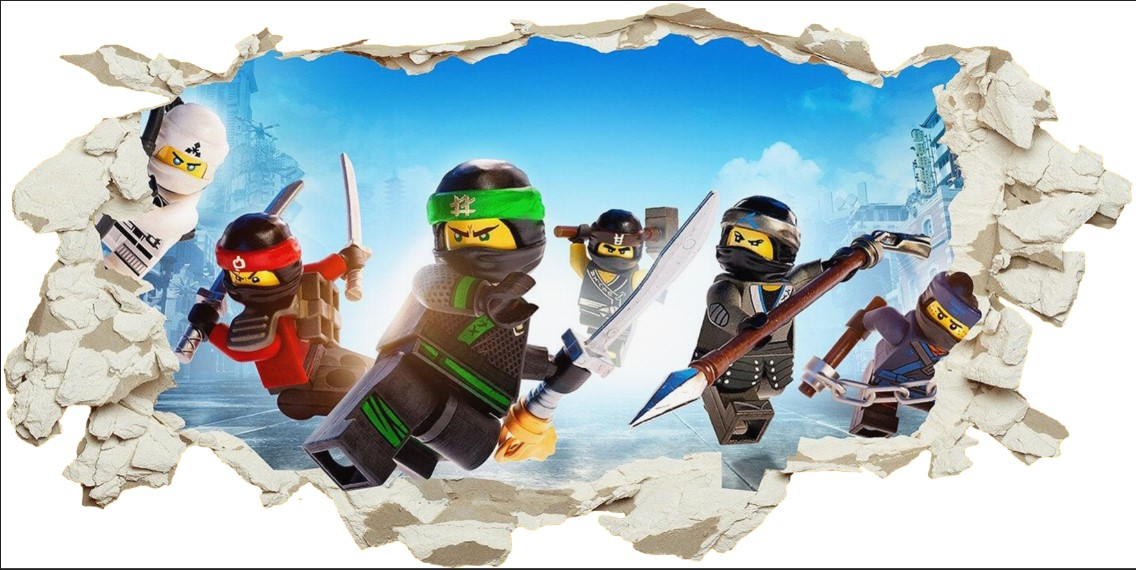Custom 3DView Wall Stickers Lego Phantom Ninja For Kids Room Harry P War Stars Boys Room Accessories Mural Art Decal Home Decor