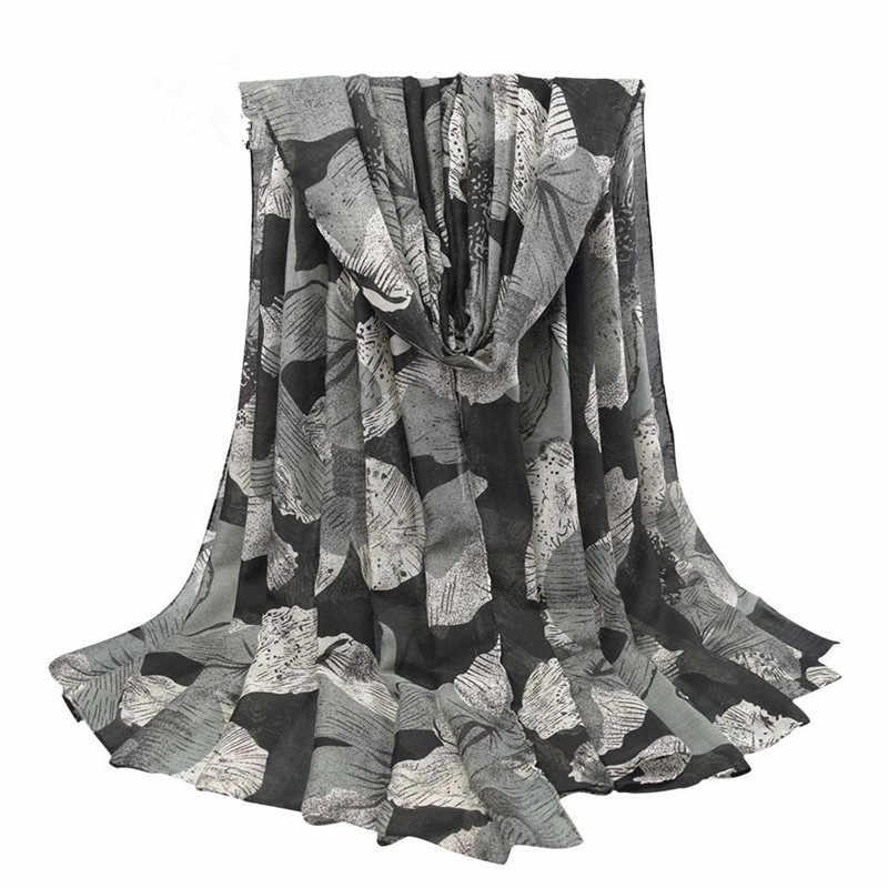 2019 nova moda quente festa cachecóis xale elegante feminino senhora vintage longo algodão macio impressão voile outono inverno natal