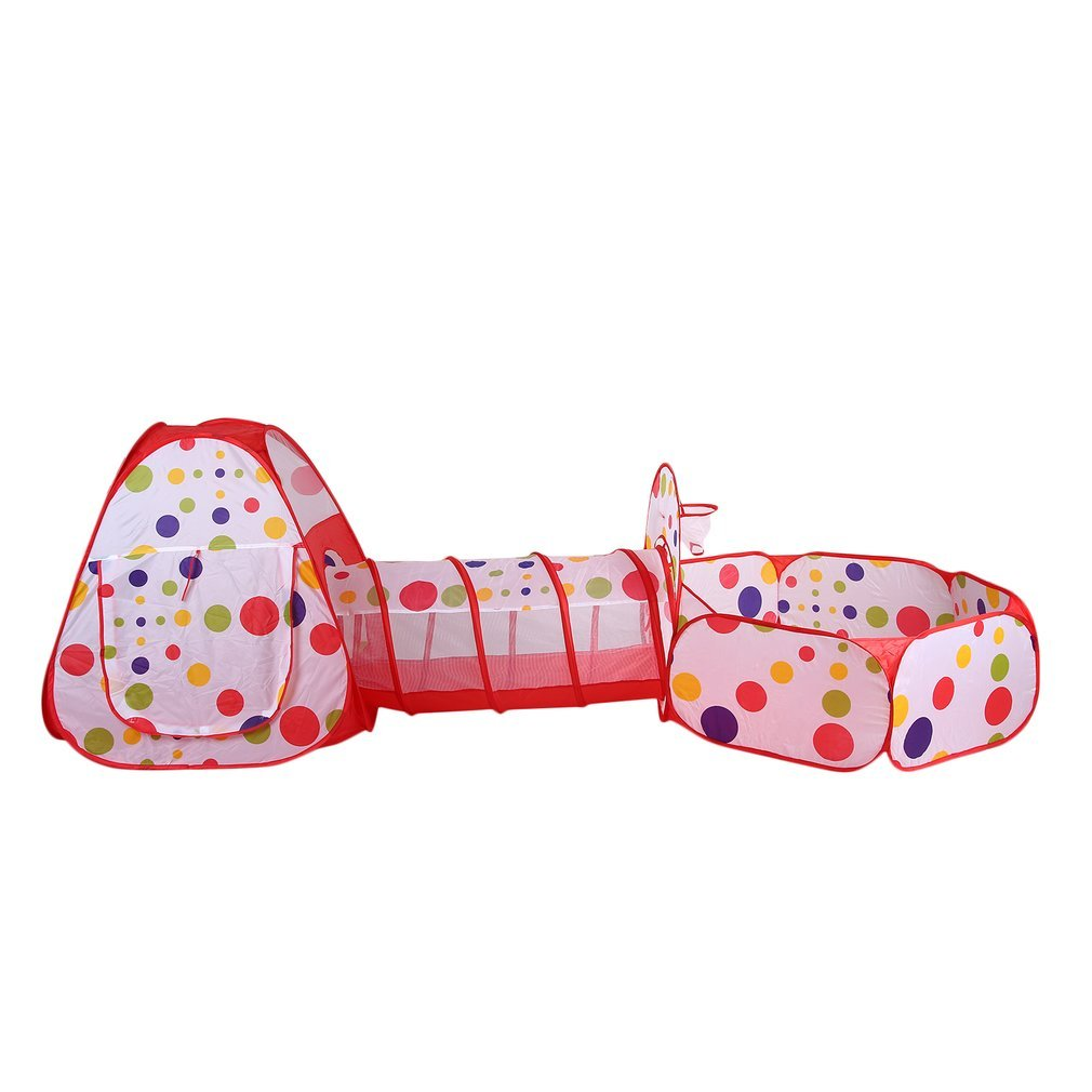 3 In 1 Toy Tents For Children Foldable Ball Pool Play House Kids Game Piscina De Bolinha Tunnel Tent Yard Outdoor Tipi Teepee