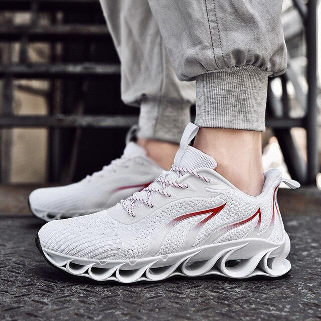 2020 חדש גברים סניקרס מקרית אופנה גברים להב סניקרס Zapatos דה Hombre גברים רשת לנשימה נעליים חיצוני נעלי ספורט גברים