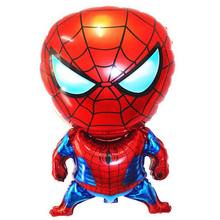 80cm Cartoon Spiderman Foil Helium Balloon Birthday Party Wedding Decoration Baby Kids Toy Cartoon Balloons Gift(China)