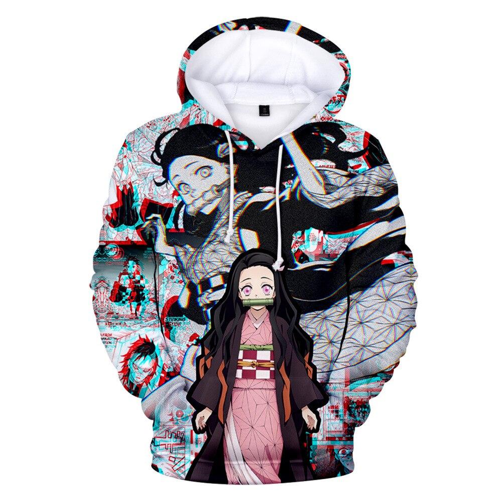 man clothes Japanese Anime Hoodie oversized mens hoodies men sweatshirt Kimetsu no Yaiba harajuku clothing homme hombre