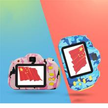 2400W Kid HD Wifi Digital Camera 2/2.4 LCD Mini Double Lens Doughnut Waterproof Cute Children Birthday/Christmas Gift