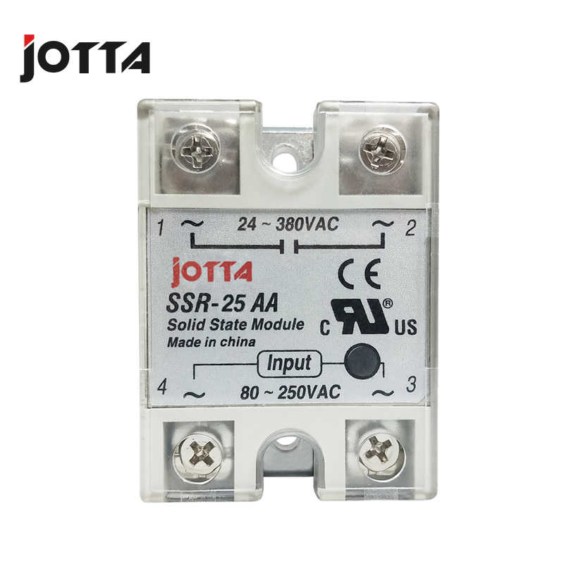Ssr-10AA 25AA 40AA Ac Controle Ac Ssr Wit Shell Eenfase Solid State Relais