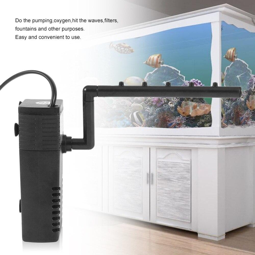 3/5W 3 In 1 Portable Aquarium Internal Filter Multi-Functional Water Pump Fish Tank Filter Fish Tank Submersible Pump 220-240V