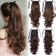 Drawstring Ponytail Extensions Fake Hairpiece Claw Synthetic-Hair Afro Curly Clip-In
