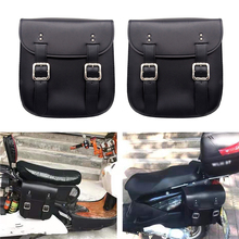 New 2 Pcs Left & Right Motorbike Tail Side Bags Storage Tool Motorcycle Saddle Large Capacity For Harley Honda