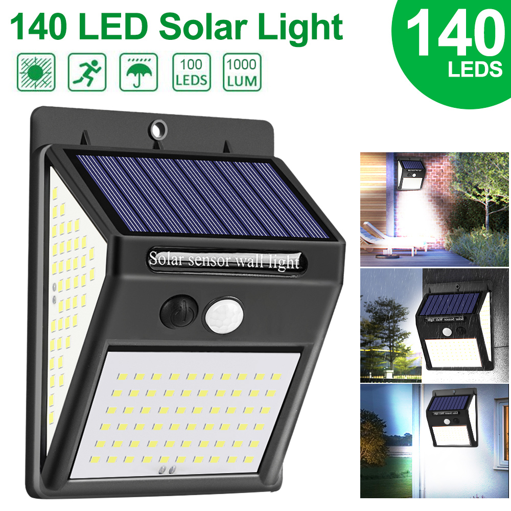 Solar Light Outdoor Solar Lamp Powered Sunlight Waterproof PIR Motion Sensor Street Light For Garden Decoration Solar Wall Light