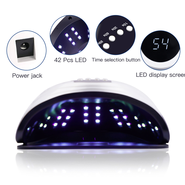 84W UV LED Nail Lamp Nail Dryer Fast Dry for Gel Nails Polish Curing with 42 pcs LEDs, 4 Timer, Auto Sensor for Home and Salon 2