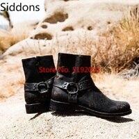 Женские ботильоны с круглым носком на низком каблуке; обувь Matin; женские Винтажные ботинки-гладиаторы из искусственной кожи; Chaussure; D137