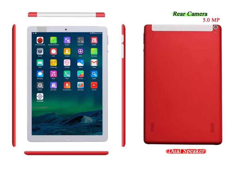 Tablet pc de 10 pulgadas 6G RAM 128GB ROM android 9,0 Wifi GPS Bluetooth Octa Core Cámara dual 1280*800 IPS 3G 4G LTE tabletas