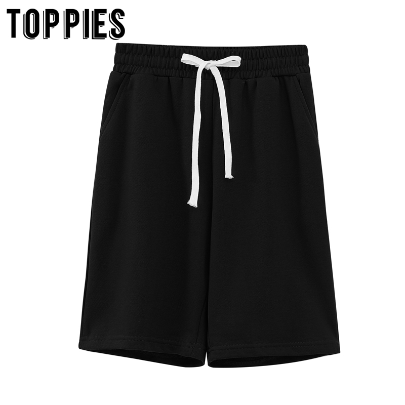 toppies summer two piece set women tracksuits solid color sweatshirts bermuda shorts elastic waist