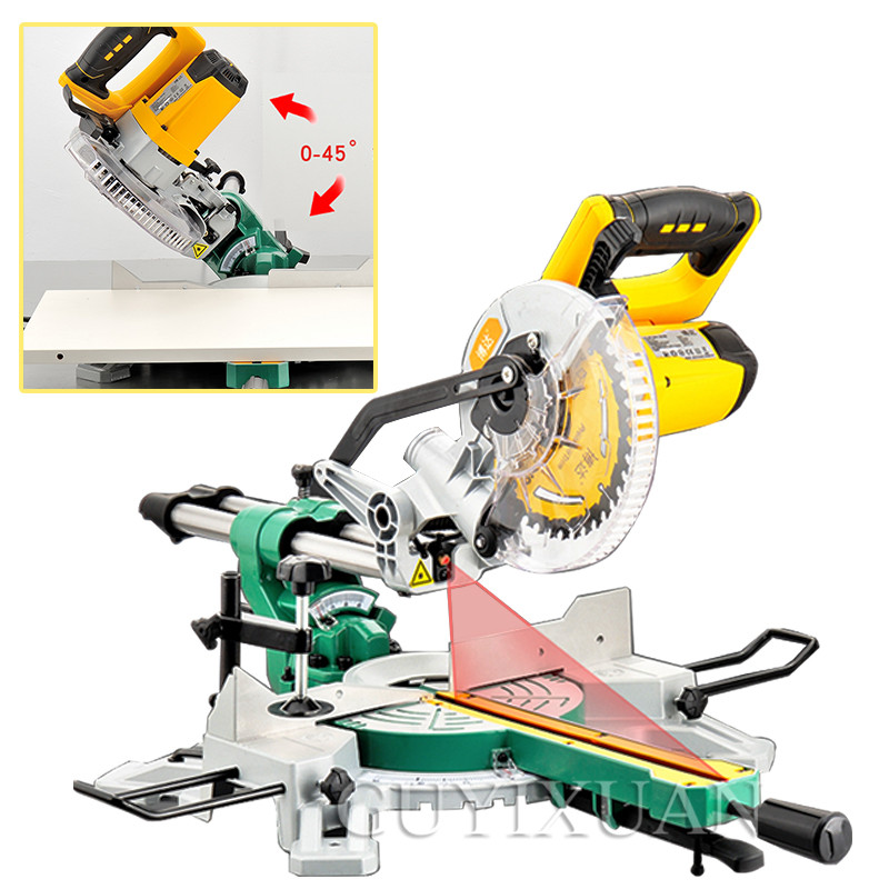 7 Inch Rod Cutting Machine Miter Saw Multifunctional Sawing Machine Multi-angle Beveling 0-45 Degree Cutting Machine