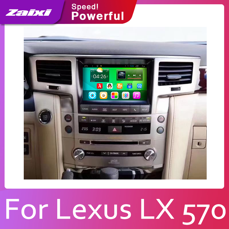 ZaiXi Car Android System 1080P IPS LCD Screen For Lexus LX 570 LX570 2007-2015 Car Radio Player GPS Navigation BT WiFi AUX image