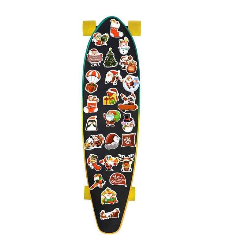 1 セットクリスマススクラップブッキング Diy クラフト荷物スケートボードステッカーファイン Pvc 印刷カバーフィルム防水学校ツール