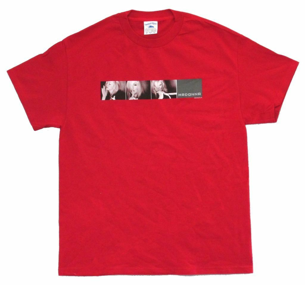 Madonna Whisper Drowned World Tour 2001 Adult Red T Shirt New image