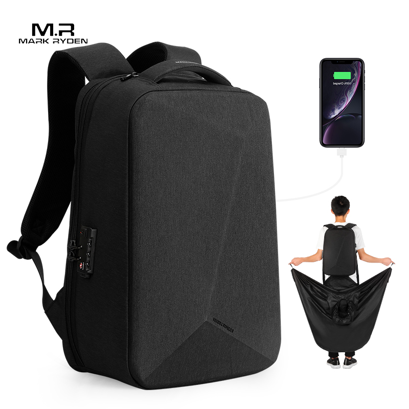 Mark Ryden NEW Anti-thief TSA Lock Men Backpack Waterproof Raincoat 15.6 Inch Laptop Bag Man Travel Bag