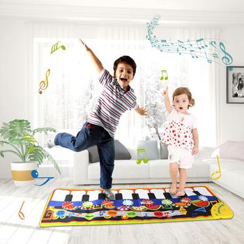 19 Piano Keyboard Piano Musical Play Mats Kids Toys Learning Blanket Rug Musical Instrument Mat Educational Toys for Children