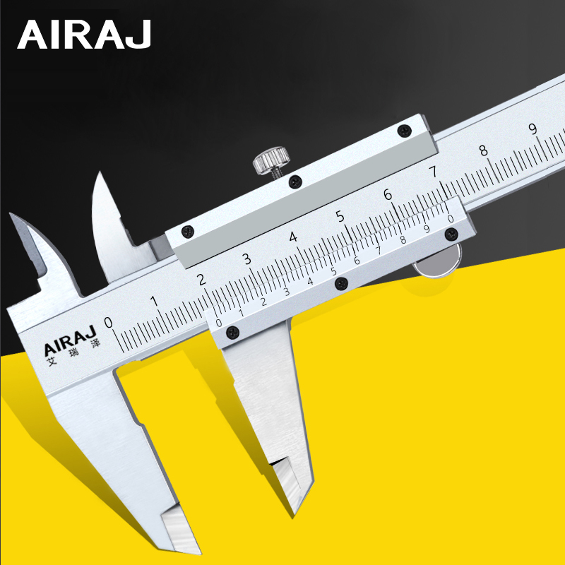 AIRAJ High Precision Stainless Steel Vernier Caliper Multi-function Household Industrial Adjustable Measuring Tools