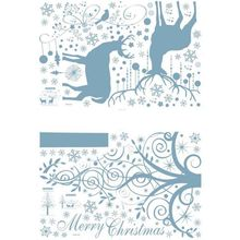 DIY Party Christmas Product Snowflake Fawn Santa Claus Christmas Tree Glass Wall Sticker Home Garden Festive Party Supplies