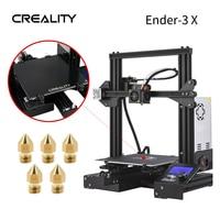Creality 3D Verbeterde Ender-3X Print Masker 3d Printer Kit Voegen Gehard Glas Hoted 5Pcs Nozzle Met 220*220*250Mm Diy 3D Printer