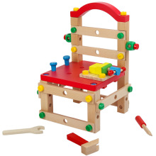 Многофункциональный инструмент для разборки стула, гайка, винт в сборе, Набор детских обучающих сборных деревянных конструкций