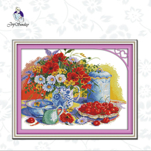 Joy Sunday,Harvest,cross stitch embroidery kit,11CTor14CT Printed Fabric,Needlework counted cross-stitch patterns joy sunday sweetnessand poetic counted cross stitch 11