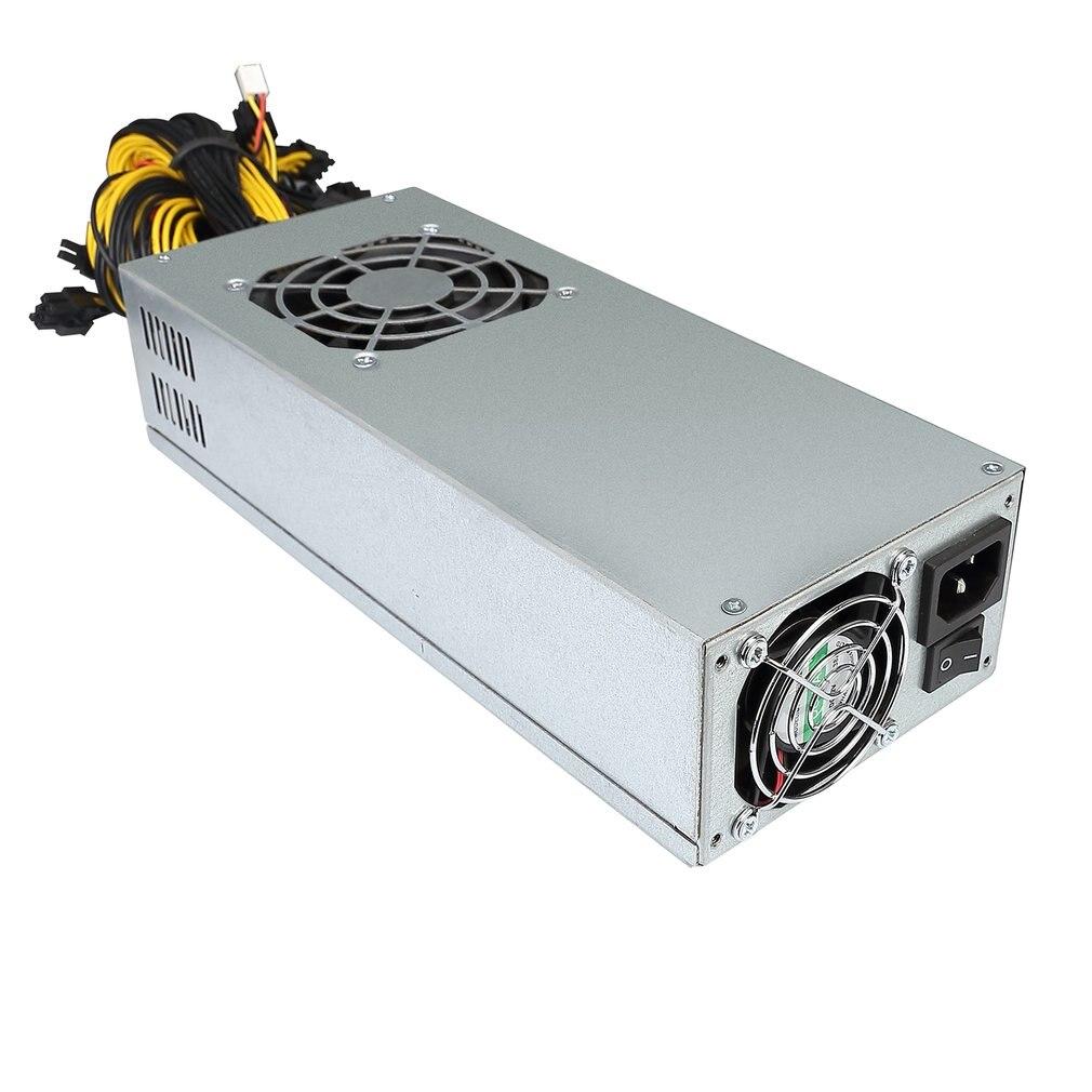 Single 2u-2600w Mining Machine Power Supply 10 P6 Interfaces Atx Computer Pc Psu Gold Mining Machine Switiching Power Supply